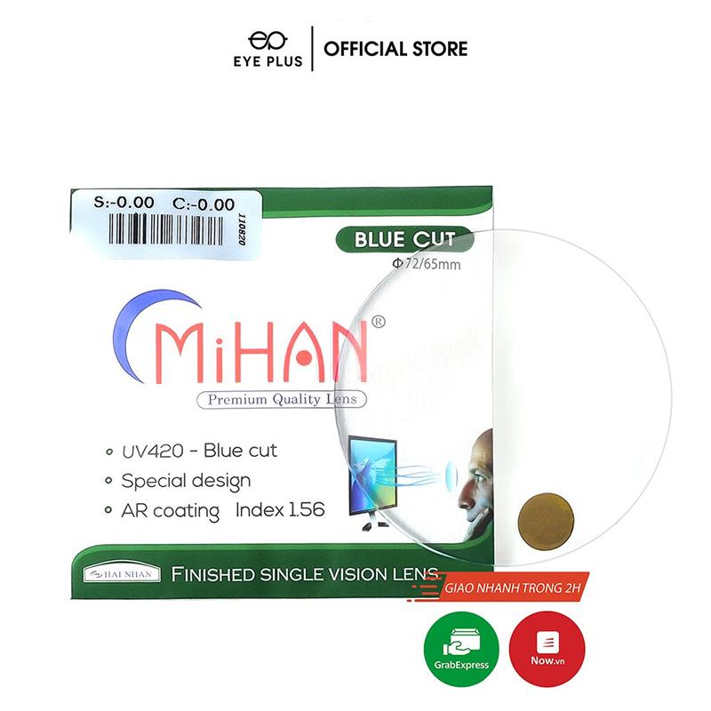 Tròng kính Mihan Bluecut