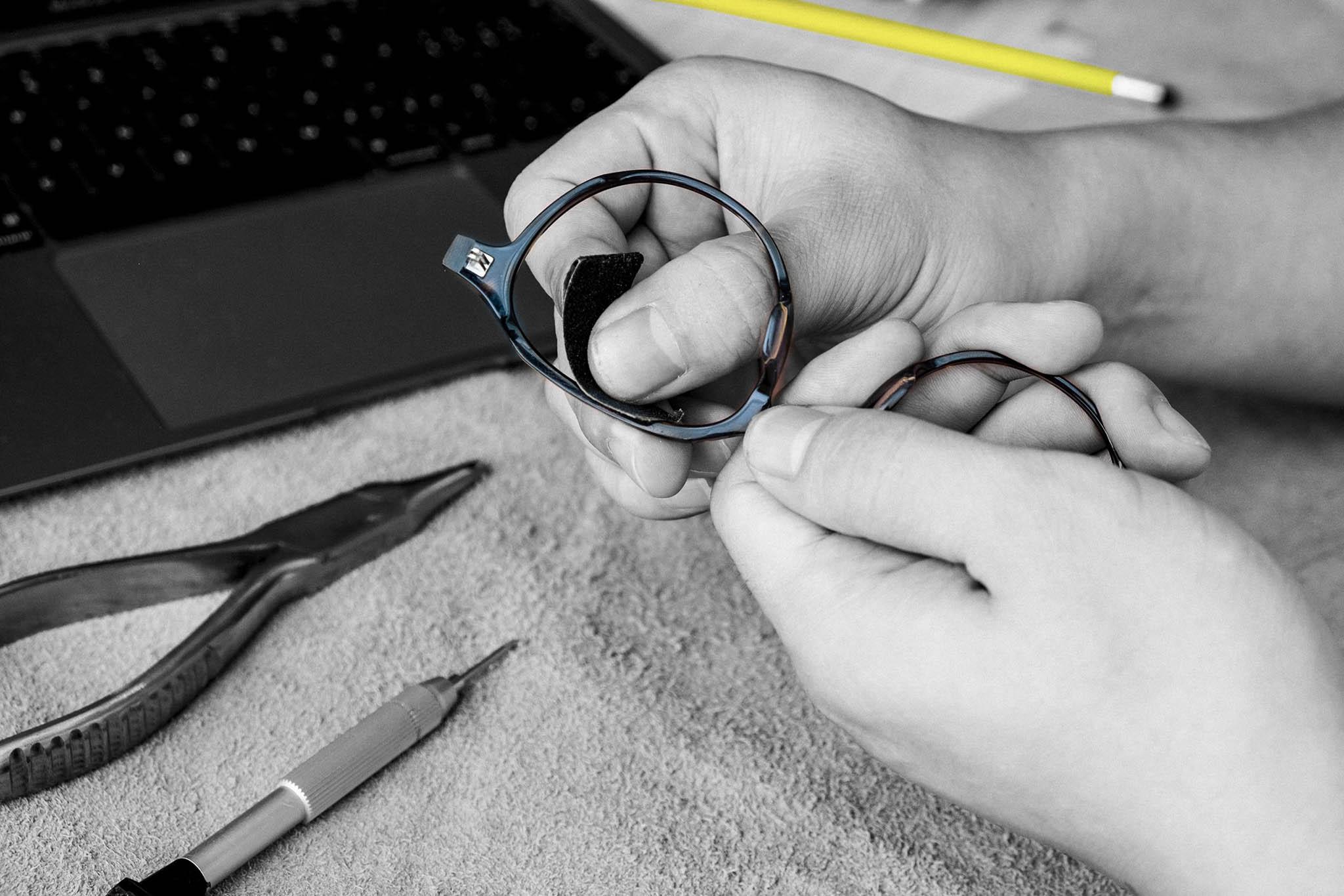 sửa chữa kính mắt